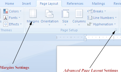 how to make second page layout word